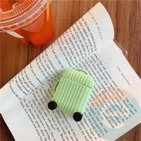 Чехол силиконовый для наушников Apple AirPods чемодан зелёный 65