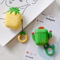 Чехол силиконовый для наушников Apple AirPods ананас 58