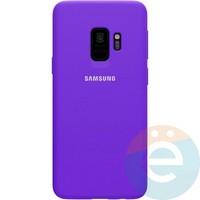 Накладка Silicone cover на Samsung Galaxy S9 фиолетовая 36