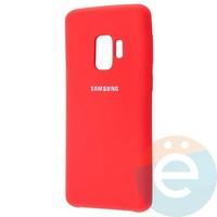 Накладка Silicone cover на Samsung Galaxy S9 красная 14