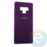 Накладка Silicone cover на Samsung Galaxy Note 9 фиолетовая 36