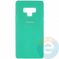 Накладка Silicone cover на Samsung Galaxy Note 9 бирюзовая 21