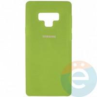 Накладка Silicone cover на Samsung Galaxy Note 9 салатовая