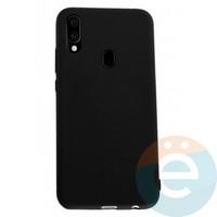Накладка Silicone cover на Samsung Galaxy A40 чёрная 18