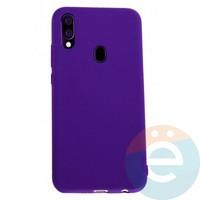 Накладка Silicone cover на Samsung Galaxy A40 фиолетовая 36