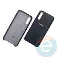 Накладка Silicone cover на Samsung Galaxy A50 чёрная 18