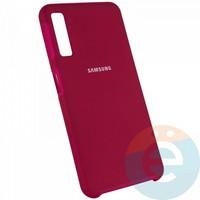 Накладка Silicone cover на Samsung Galaxy A50 бордовая 42