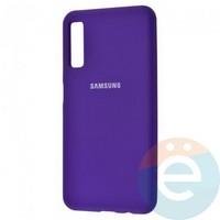 Накладка Silicone cover на Samsung Galaxy A50 фиолетовая 36