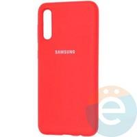 Накладка Silicone cover на Samsung Galaxy A70 красная 14