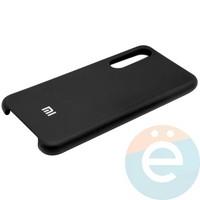 Накладка Silicone cover на Xiaomi Mi 9 чёрная 18
