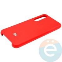 Накладка Silicone cover на Xiaomi Mi 9 красная 14