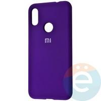 Накладка Silicone cover на Xiaomi Redmi 7 фиолетовая 36