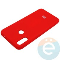 Накладка Silicone cover на Xiaomi Redmi Note 7 красная 14