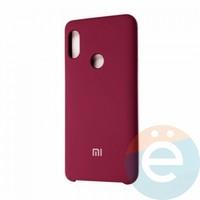 Накладка Silicone cover на Xiaomi Mi A2/6X бордовая 42