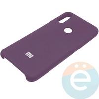 Накладка Silicone cover на Xiaomi Redmi Note 7 фиолетовая 36