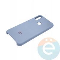 Накладка Silicone cover на Xiaomi Redmi Note 7 светло сиреневая 5