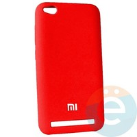 Накладка Silicone cover на Xiaomi Redmi Go красная 14