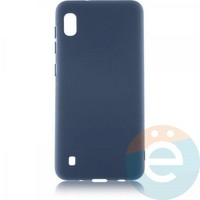 Накладка Silicone cover на Samsung Galaxy A10 синяя 20
