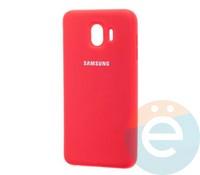 Накладка Silicone cover на Samsung Galaxy J2 core красная 14