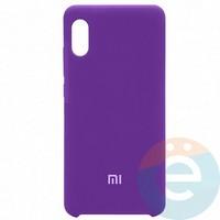 Накладка Silicone cover на Xiaomi Redmi 7A фиолетовая 36