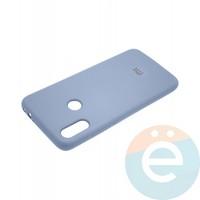 Накладка Silicone cover на Xiaomi Redmi 7 светло сиреневая 5