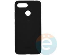Накладка Silicone cover на Xiaomi Redmi 6 чёрная 18