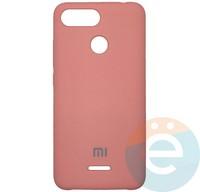 Накладка Silicone cover на Xiaomi Redmi 6 розовая 6