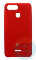 Накладка Silicone cover на Xiaomi Redmi 6 красная 14