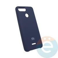 Накладка Silicone cover на Xiaomi Redmi 6 синяя 20
