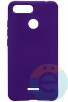 Накладка Silicone cover на Xiaomi Redmi 6 фиолетовая 36
