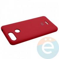 Накладка Silicone cover на Xiaomi Redmi 6 бордовая 42