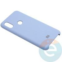 Накладка Silicone cover на Xiaomi Redmi Note 6 светло сиреневая 5