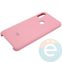 Накладка Silicone cover на Xiaomi Redmi Note 6 розовая 6