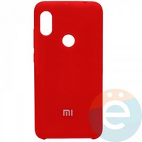 Накладка Silicone cover на Xiaomi Redmi Note 6 красная 14