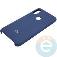 Накладка Silicone cover на Xiaomi Redmi Note 6 синяя 20