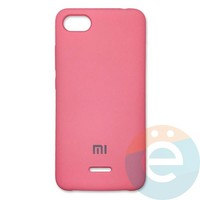 Накладка Silicone cover на Xiaomi Redmi 6A розовая 6