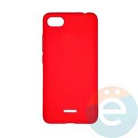 Накладка Silicone cover на Xiaomi Redmi 6A красная 14