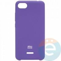 Накладка Silicone cover на Xiaomi Redmi 6A фиолетовая 36
