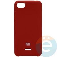 Накладка Silicone cover на Xiaomi Redmi 6A бордовая 42