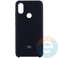 Накладка Silicone cover на Xiaomi Mi A2/6X чёрная 18