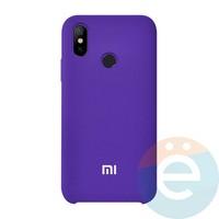Накладка Silicone cover на Xiaomi Mi A2/6X фиолетовая 36