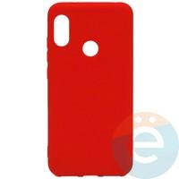 Накладка Silicone cover на Xiaomi Mi A2 lite/6 Pro красная 14