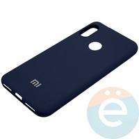 Накладка Silicone cover на Xiaomi Mi A2 lite/6 Pro синяя 20