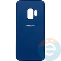 Накладка Silicone cover на Samsung Galaxy S9 синяя 20