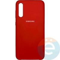 Накладка Silicone cover на Samsung Galaxy A50 красная 14