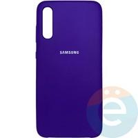 Накладка Silicone cover на Samsung Galaxy A70 фиолетовая 36