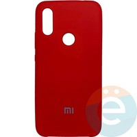 Накладка Silicone cover на Xiaomi Redmi 7 красная 14