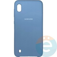 Накладка Silicone cover на Samsung Galaxy A10 светло-сиреневая 5