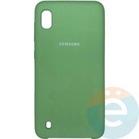 Накладка Silicone cover на Samsung Galaxy A10 мятная 1