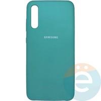 Накладка Silicone cover на Samsung Galaxy A70 бирюзовая 21